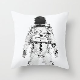 Melted spaceman Throw Pillow