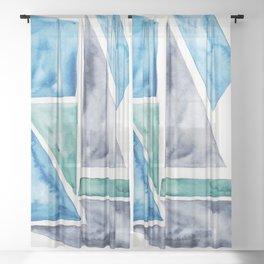 19    Abstract Geometric   191015 Sheer Curtain