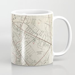 Vintage Map of Schenectady NY (1917) Coffee Mug