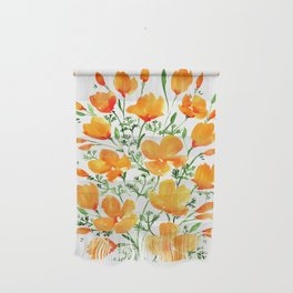 Watercolor California poppies Wall Hanging
