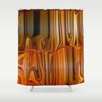 satan Shower Curtains featuring Liquid Satan by LBH Dezines