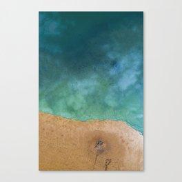 Blue Ocean Sea Shoreline - Drone photography Canvas Print