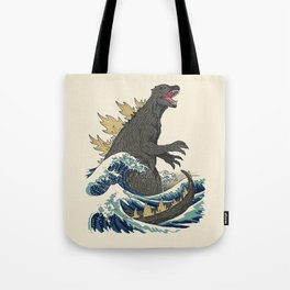 The Great Monster Off Kanagawa Tote Bag