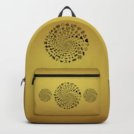 Mandala of Love Symbols from Ancient Cultures on Papyrus Backpack