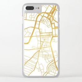 BELFAST UNITED KINGDOM CITY STREET MAP ART Clear iPhone Case