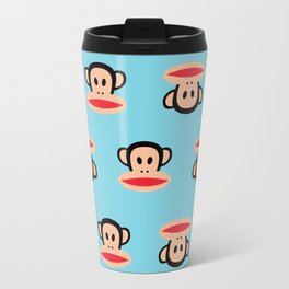Julius Monkey Pattern by Paul Frank - Blue Travel Mug