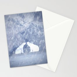 The love of polar bears Stationery Cards