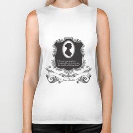 Jane Austen Snarky Quote Biker Tank