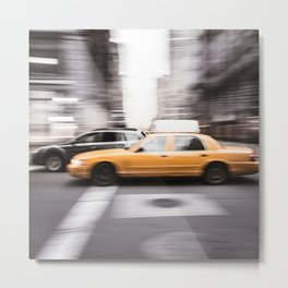 new york city taxi Metal Print