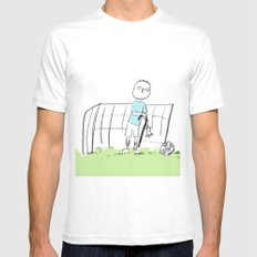 football White SMALL Mens Fitted Tee