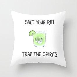 Salt the Rim - Trap the Spirits Throw Pillow