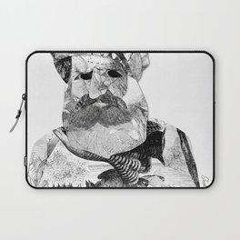 Portrait of a Man with Beard Laptop Sleeve