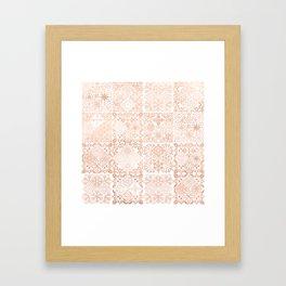 MOROCCAN TILES ROSEGOLD Framed Art Print