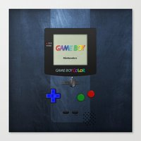 gameboy Canvas Prints featuring GAMEBOY COLOR by Smart Friend