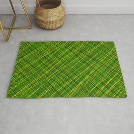Royal ornament of their green threads and yellow intersecting fibers. Rug