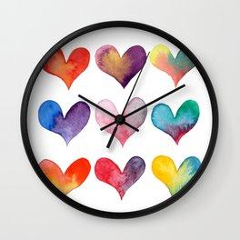 color of hearts Wall Clock