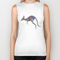 kangaroo Biker Tanks featuring kangaroo by Annie Liu