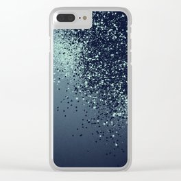Sparkling Blue Summer Night Lady Glitter #1 #shiny #decor #art #society6 Clear iPhone Case