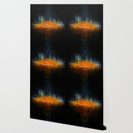 New York City Skyline Hq V04 Wallpaper