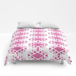 Monlay Pink, Mountain lines, Geometric Comforters