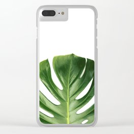 Monstera Clean Clear iPhone Case