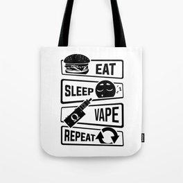 Eat Sleep Vape Repeat - Vaping E-Cigarette Vaper Tote Bag