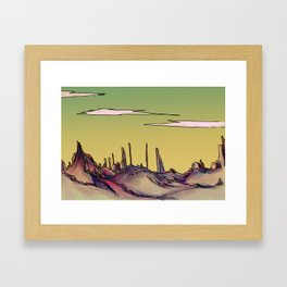 Rock Desert Framed Art Print