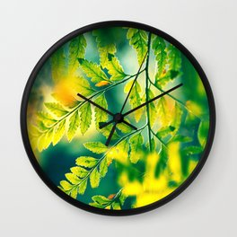 Memories in the Leaves Wall Clock