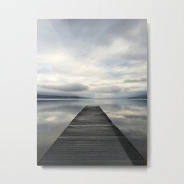 Lake McDonald Dock Metal Print