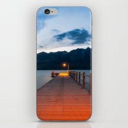 Moon rising at Glenorchy wharf, NZ iPhone Skin