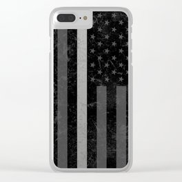 Thin Silver Line Clear iPhone Case
