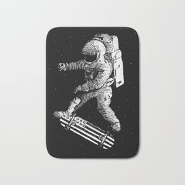 Kickflip in space Bath Mat