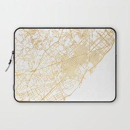 BARCELONA SPAIN CITY STREET MAP ART Laptop Sleeve