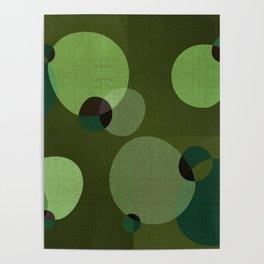 """""""Retro Green Super Dots"""" Poster"""