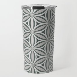 Geometrical, floral, circle, triangle pattern in neutral tints. Pop art style Travel Mug