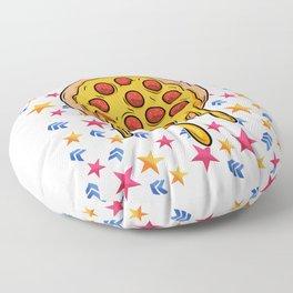 Pizza star sky funny gift Floor Pillow