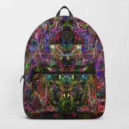 Third Mind Wiring (abstract, psychedelic, visionary) Backpack