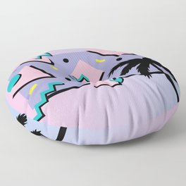Memphis Pattern 25 - Miami Vice / 80s Retro / Palm Tree Floor Pillow