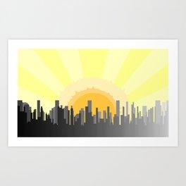 Grey City Morning Art Print
