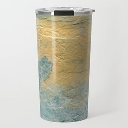 Copper Turquoise #03 Abstract Texture | Corbin Henry | Faux Finishes Travel Mug