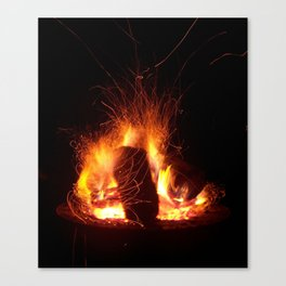 """Fire Photo 3"" Canvas Print"