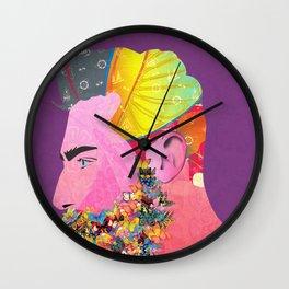 Barba Mariposa Wall Clock