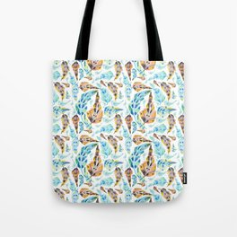 Mix of Feathers  Tote Bag