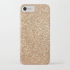 Copper Rose Gold Metallic Glitter iPhone 7 Slim Case
