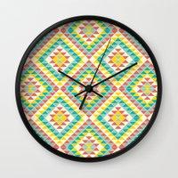 southwest Wall Clocks featuring Southwest by Jacqueline Maldonado