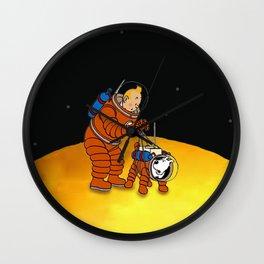 tintin on the moon Wall Clock