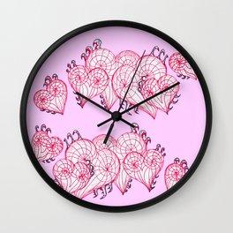 hearts that capture Wall Clock
