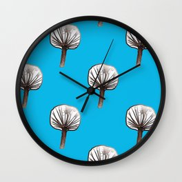 Little Trees (blue) Wall Clock