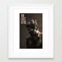 the last of us Framed Art Prints featuring The Last Of Us by MCMLXXXV DESIGN