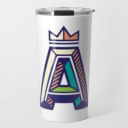 Crowned A Initial Travel Mug